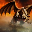 Dragon attack — Stock Photo