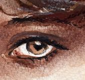 Brown eye, — Stockfoto