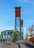Lift bridge in down position — Stock Photo