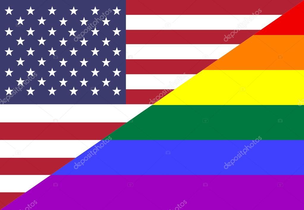 Bandiera lgbt americana colori intrecciate per l 39 uso - Si usa per cucinare 94 ...