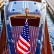Proud boat owners display beautifully maintained wooden crafts. — Stock Photo