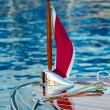Vintage boats adorned with shiny chrome moored and ready to show. — Stock Photo #33301071