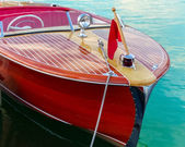 Motorized leisure boats allow for relaxing travel — Stock Photo