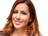 Hispanic female facial expression — Stock Photo