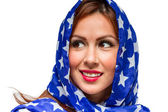 Patriotic American Female — Stock Photo
