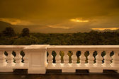 Beautiful of sunset view when see from terrace — Stock Photo