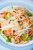 Somtum : Delicious and tradition Thai foods — Stock Photo