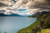 Beautiful view and landscape of lake and cloud in South Island, New Zealand — Stock Photo