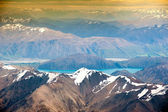 Beautiful view and landscape of lake and mountain in South Island, New Zealand — Stock Photo