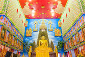 Beautiful Buddha in temple, Nonthaburi, Thailand — Stock Photo
