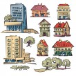 Apartment houses — Stock Vector