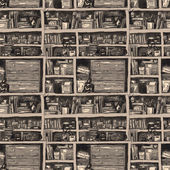 Bookcase — Stock Vector