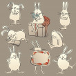 Rabbits — Stock Vector #13991730