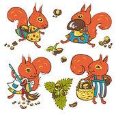 Squirrels — Stock Vector
