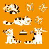 Striped cats — Stock Vector