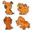 Stock Vector: Puppies