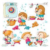 Washing — Stock Vector
