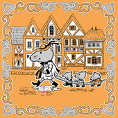 Myszy w mieście — Wektor stockowy