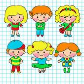 Children — Stock Vector