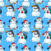 Sneeuwmannen — Stockvector