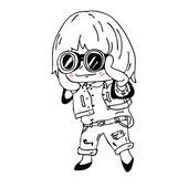 Fashion Little girl — Stock Vector