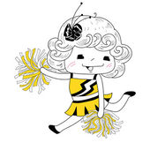 Cartoon cheerleader — Stock Vector