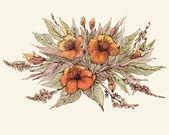 Obrázek květiny. — Stock vektor