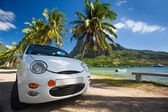 Car trip around tropical island beaches — Stock Photo