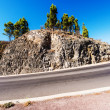 Stock Photo: Meandering path around cliff in Tenerife