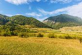 Piękny górski krajobraz otręby, rumunia — Zdjęcie stockowe