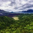 Landscape of Batur volcano on Bali island, Indonesia — Stock Photo