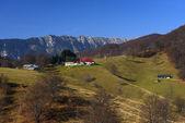 Mountain autumn landscape in Bucegi Mountains, Romania — Stock Photo