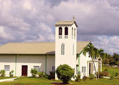 Countryside Church in Punta Cana Dominican Republic — Zdjęcie stockowe