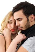 Young couple in love isolated on white background — Stock Photo