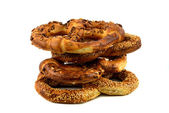 Bagels are isolated a white background — Stok fotoğraf