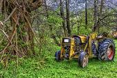 Vintage old tractor, Romania — Stock Photo
