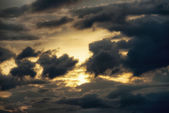 Sky with clouds at sunset after the rainstorm — Stock Photo