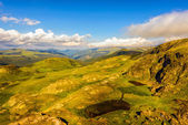 Landscape with the spectacular Parang  mountains in Romania — Stock Photo