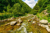 Beautiful mountain landscape with a river — Stock Photo