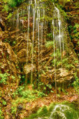 Small waterfall on a mountain river — Stock Photo