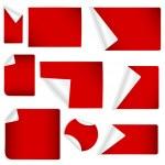 vectores de pegatinas de papel rizado — Vector de stock