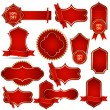 Vector Banners in Royal Red — Stock Vector
