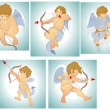 Classic Vector Cupids — Vector de stock #12771858