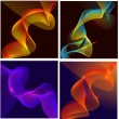Vector Waves Lines Backgrounds — Stock Vector