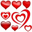 Royalty-Free Stock Vector Image: Hearts Vectors