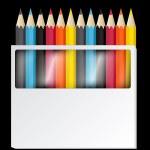 Colorful Pencils Vectors — Stock Vector #12772896