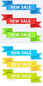 All time Label Banner Vectors — Stock Vector