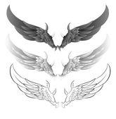 Wings Vector Illustrations — Stock Vector