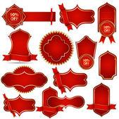 Vector banners en rojo real — Vector de stock