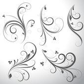 Swirls Vector Elements — Stock Vector